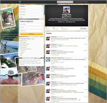 Example Twitter Page