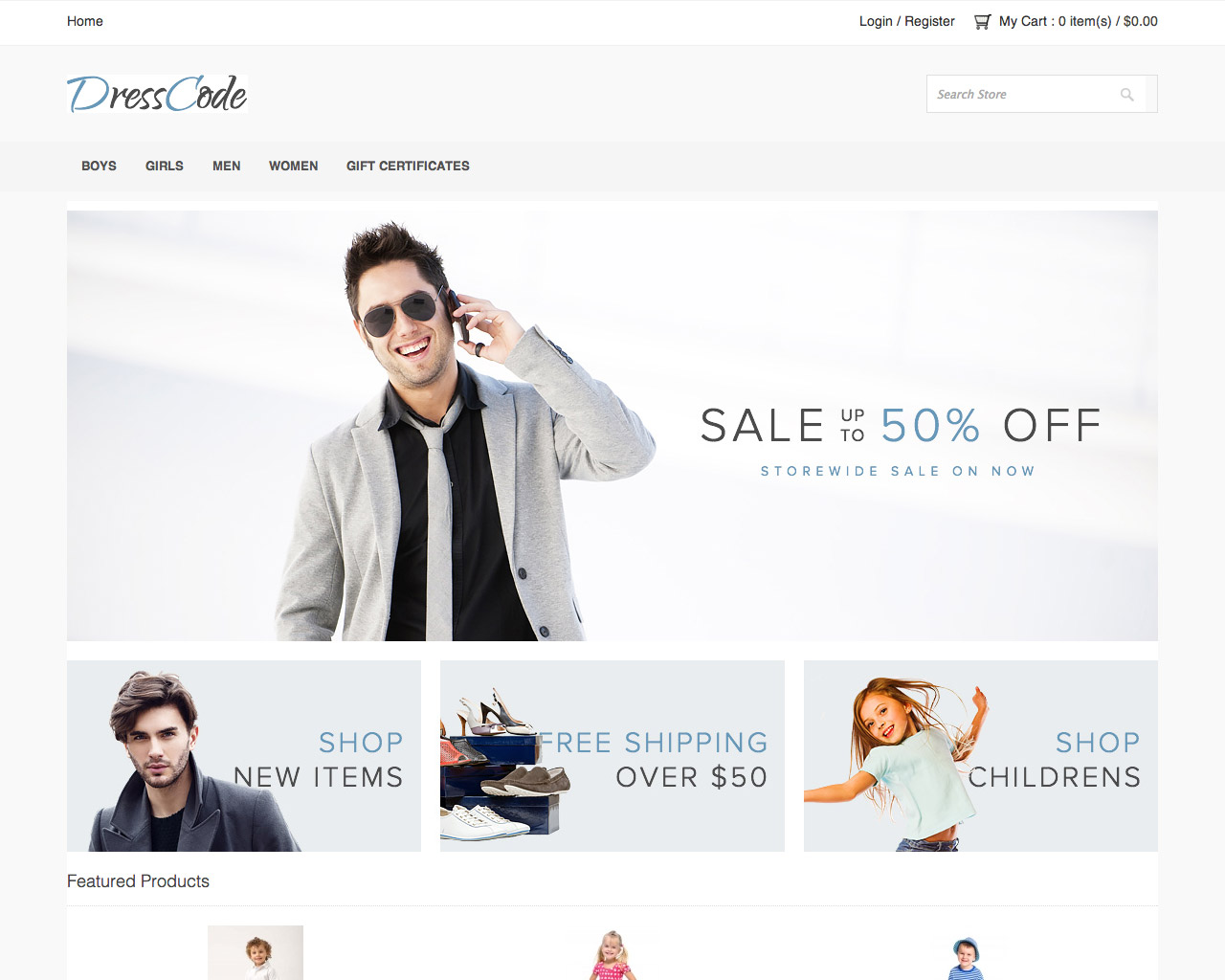ECommerce Website Templates Free PinnacleCart Themes - Free ecommerce website templates shopping cart