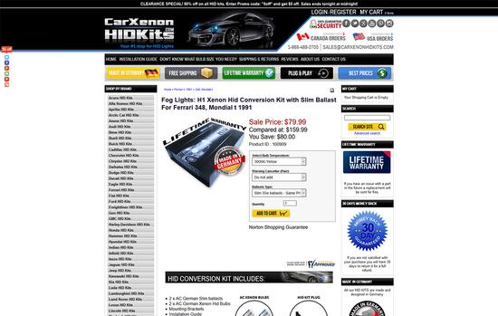 Car Xenon HID Kits
